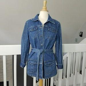 Vintage 80's Blue Jean Shirt / Jacket